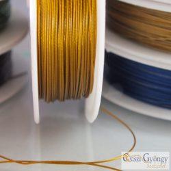 Arany színű - 1 méter - Tigrisbajusz sodrony, átmérő: 0.45 mm