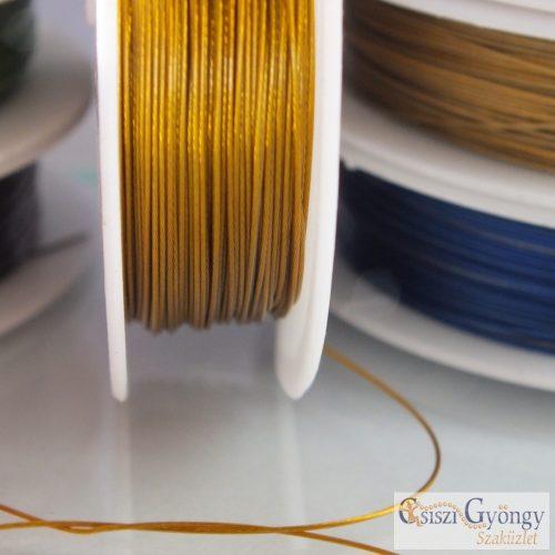 Arany színű - 1 tekercs (10 méter) - ékszerdrót, átmérő: 0.4 mm
