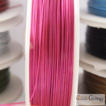 Pink - 1 Roll (10 meter) - Jewelry Wire, size: 0.4mm