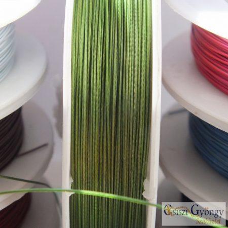Zöld színű - 1 tekecs (10 méter) - ékszerdrót, átmérő: 0.4 mm