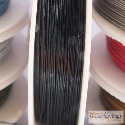 Fekete színű - 1 méter - Tigrisbajusz sodrony, átmérő:0.45 mm