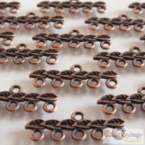 Tibetian Style Links - 2 Stk . - bronze color, size: 10x26mm, 5 holes (Nickel, Lead and Cadmium Free)