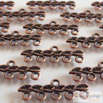 Leveles - 2 db - bronz színű, méret: 10x26mm, 5 soros, (nikkel, ólom és kadmium mentes)