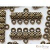 Tibetian Style Links - 2 pc. - brass color, size: 12x25mm, 5 holes (Lead and Cadmium Free)