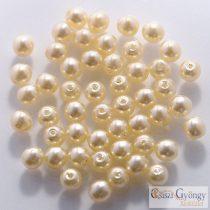 Vanilla - 50 db - 3 mm cseh, üveg tekla gyöngy (10001)