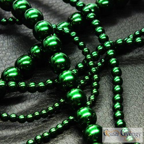 Emerald - 50 db - cseh, üveg tekla gyöngy 3 mm (70959)