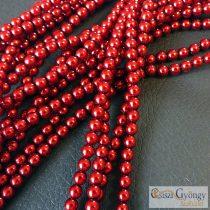 Red - 50 Stk. - 3 mm Glass Pearls