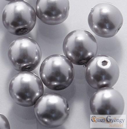 Grey - 50 db - cseh, üveg tekla gyöngy 4 mm (70488)