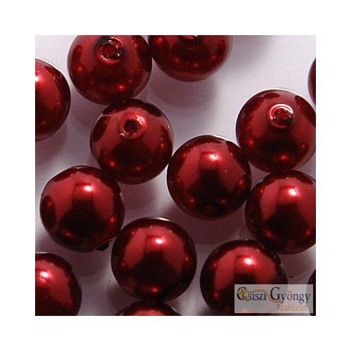 Wine - 40 db - 4 mm cseh, üveg tekla gyöngy (10186)