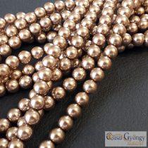 Brass - 50 pc. - Czech Glass Pearl 4 mm (70417)