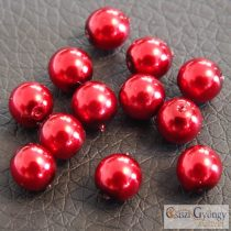 Red - 50 pcs. - 4 mm Glass Pearl (10185)