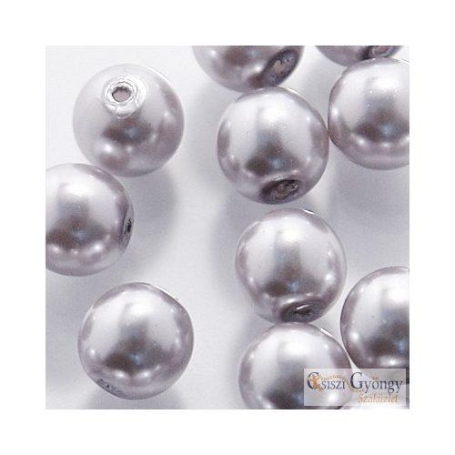 Platina - 20 db - 6 mm cseh, üveg tekla gyöngy (70483)