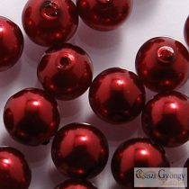 Wine - 20 db - 6 mm cseh, üveg tekla gyöngy (10186)