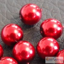 Red - 20 pcs. - 6 mm Glass Pearl