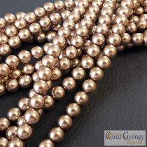 Brass - 20 pcs. - 6 mm Glass Pearls