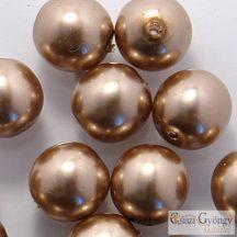 Barna - 10 db - cseh üveg tekla gyöngy 8 mm (70417)
