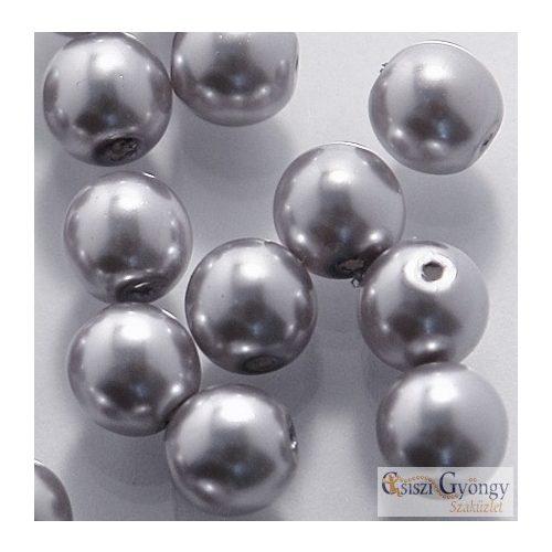 Grey - 10 db - cseh üveg tekla gyöngy 8 mm (70488)
