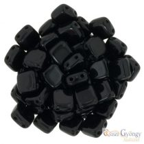 Jet - 20 pc. - TILE beads, size: 6x6 mm (23980)
