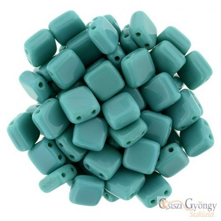 Persian Turquoise - 20 db - TILE gyöngy, méret: 6x6 mm (63150)