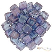 Luster Transparent Amethyst - 20 db - Tile beads 6mm (LE00030)
