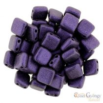 Metallic Suede Purple - 20 Stk. - TILE beads, Grösse: 6x6mm (79021MJT)