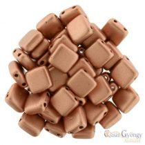 Matte Metallic Copper - 20 db - Tile gyöngy, méret: 6x6 mm