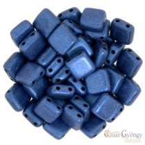 Metallic Suede Blue - 20 Stk - Tile Perlen, Grösse: 6x6 mm