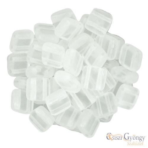 Matte Crystal - 20 db - Tile gyöngy, mérete: 6x6mm (M00030)