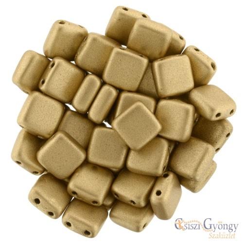 Matte Metallic Flax - 20 db - Tile gyöngy, mérete: 6x6mm (K0171)