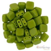 Opaque Olivine - 20 pc. - Tile Beads, Size: 6x6 mm (53420)