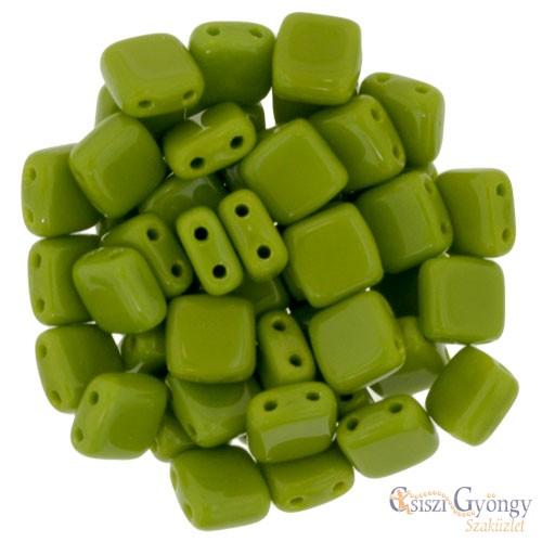 Opaque Olivine - 20 db - Tile gyöngy, mérete: 6x6 mm (53420)