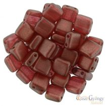 Halo Cardinal - 20 pc. - Tile Beads size: 6x6 mm (29256CR)