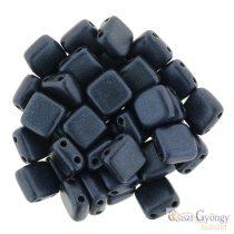 Metallic Suede Dark Blue - 20 db - Tile gyöngy 6 mm (79032MJT)