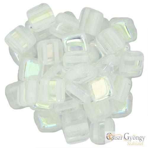 Crystal AB - 20 db - Tile gyöngy (X00030)