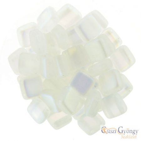 Matte Crystal AB - 20 pcs. - Tile Beads 6x6mm (MX00030)