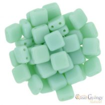 Opaque Pale Turquoise - 20 pc. - Tile Beads 6 mm (63100)