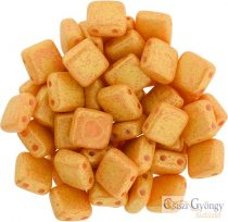 Pacifica Tangerine- 20 pcs. - Tile Beads 6x6mm (S1004WH)