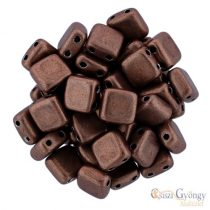 C.T. Sat Met. Autumn Maple - 20 pcs. - Tile Beads 6x6mm (04B10)