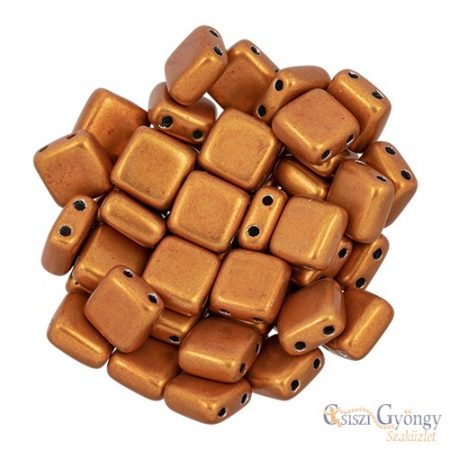 C.T. Sat. Met. Russet Orange - 20 db - Tile gyöngy 6x6mm (06B06)