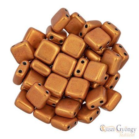 C.T. Sat. Met. Russet Orange - 20 db - Tile gyöngy 6x6mm (06B06)
