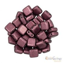 C.T. Sat. Met. Red Pear - 20 pcs. - Tile Beads (06B01)