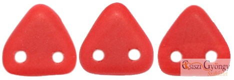 Opaque Matte Red - 20 db - Triangle gyöngy 6 mm (M93200)