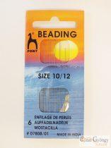 Pony Beading Needle - 1 card - 6 pc. beading needle size: 10# and 12#