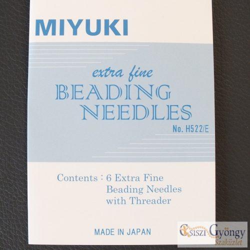 Miyuki gyöngyfűző tű készlet - 1 kártya (6 db tű + befűző)