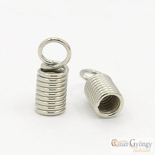 Rugós végzáró - 10 db - ezüst színű, hossza: 10mm, átmérő: 3.2mm