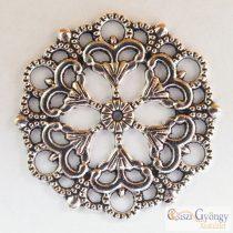 Tibetan Style Filigree - 1 Stück - antique silver color, 29 mm