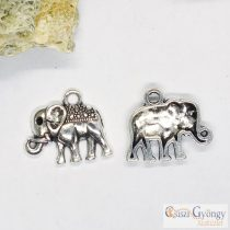 Pedant - 1 pcs. -  antique silver color, size: 17x13 mm