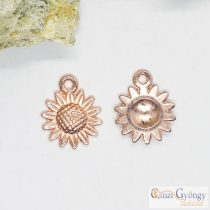 Pedant - 1 pcs. - rose gold color, size: 18x15 mm