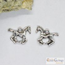 Pedant - 1 pcs. - antique silver color, size: 19 mm