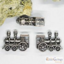 Pedant - 1 pcs. - antique silver color, size: 27 mm